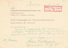 """East Germany/DDR Max Fechner 1892-1973 genuine autograph 4x6"""" card signed"""