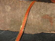 Neu 30 m Drahtkantenband 10 mm orange gold Bänder Schleifen Deko Weihnachten