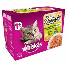 Whiskas 1+ Cat Pouch Pure Delight Meat & Fish 12 x 85g - 262120