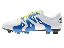 Men's Adidas Leather Football Soccer Boots, Shoes Trainers Moulded Studs - White