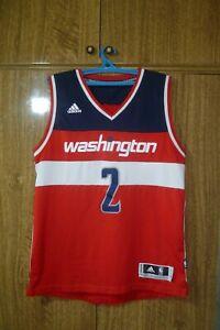 Washington Wizards Adidas NBA Jersey #2 John Wall DC Red Basketball Men Size M