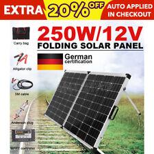 GISTA Mono 250W Folding Solar Panel Kit Caravan Camping Power Charger 12V NEW