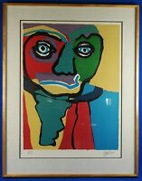 "Rare Karel Appel Signed & EA Edition ""Personnage"" Lithograph Well Framed 1970"