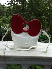 HelloKitty Messenger Cross-body Handbag Tote Shoulder Bag 2018 New Pu Bow White