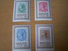 MALTA,STAMP CENTENARY SET,4 VALS,U/MINT.EXCELLENT.