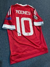Manchester United 2015/2016 Home Jersey S ROONEY 10 Champions League Authentic