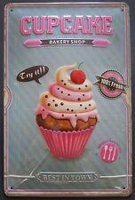CUPCAKE - BLECHSCHILD, Retro-Stil der 50er, Küche, Muffins