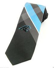 Carolina Panthers Grid Mens Neck Tie NFL Football Necktie Logo Sports Fan New
