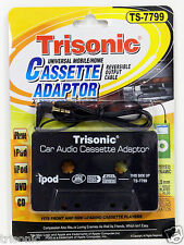 CAR CASSETTE TAPE ADAPTOR 3.5mm FOR IPHONE 5S 5C GALAXY S4 IPOD MP3 DVD MD CD
