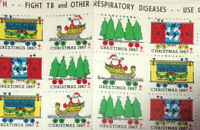 6 MNH Sheets Scott#: WX228 - Christmas Seals - 1967 (Holiday Train) 833