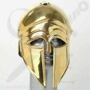 Medieval Spartan Wearable Greek Corinthian Helmet Free Leather Liner Knight