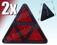 2x 4tlg. Dreieckrückstrahler Dreieckstrahler Rückstrahler rot für Pkw Anhänger