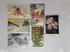 Happy New Year Gelukkig Nieuwjaar  6 Vintage 1930`s Postcards Erika Rokat