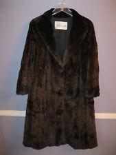 Sheared MINK fur coat brown with hood medium CUTTER jacket