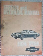 1974 Chevrolet Vega Service and Overhaul Manual P/N's ST 300-74 Original O.E.M.