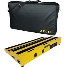 "Pedal board and case  Accel (yellow) XTA25 Pro Tier 25"" Pedal Board"