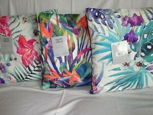 Exotic Flowers and Foliage Cushions Bright Colours, Modern designs