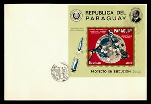 DR WHO 1970 PARAGUAY FDC SPACE S/S C239022