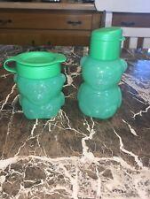 Tupperware Eco Bear Design Green Bottle Set