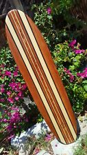3ft. Surfboard Wall Art Hawaiian surf beach hibiscus decor longboard tiki sun