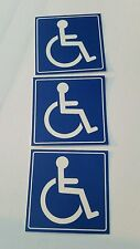 Handicap  Logo Sign Decal  Sticker (set of 3  ) 4x4 in