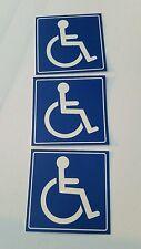 Handicap  Logo Sign Decal  Sticker (set of 3  ) 4x4 in