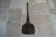 Large Primitive Antique 19th C Forged Iron Hearth Cooking Spatula Turner RARE #3