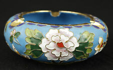 CHINESE FINE CLOISONNE COLLECTABLE HANDMADE FLOWER ASHTRAY ORNAMENT