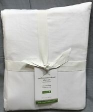 Pottery Barn Organic Coral Emilia Embroidered Twin XL Sheet Set
