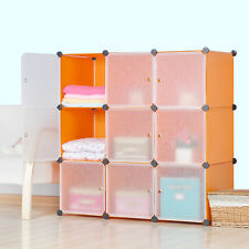 DIY Home Storage Cube Cabinet for Clothes Shoes Bags Office, Orange (9) Cubitbox