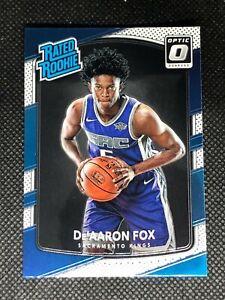 De'Aaron Fox 2017-18 Optic Rated Rookie RC #196 Sacramento Kings