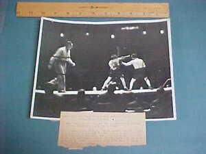 "Jack ""Kid"" Berg vs. Billy Petrolle 8x10 International Newsreel Boxing Photo 1930"