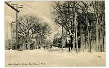 East Orange NJ -MAIN STREET IN WINTER- Postcard