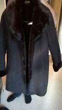 Ladies' Jaeger black, faux fur collared coat.