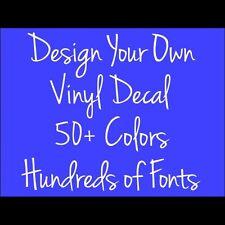 Custom Name Vinyl Decal Sticker Car Window Netbook Laptop Bumper Tailgate Truck