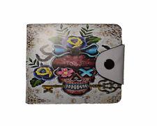 Cool Skull Key design wallet Cream Rock heavy metal