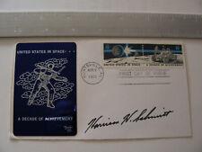 Apollo 17 Moonwalker Harrison Schmitt Hand-Signed/Autographed FDC Cover NASA `
