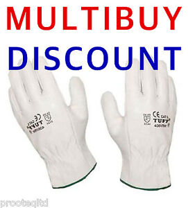 Professional Full Soft Leather Driving Gloves - Drivers TIG Welding  Quality!