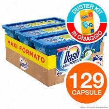 129 pastiglie Dash 3in1 pods Classico Detersivo Lavatrice in Capsule 129 Lavaggi