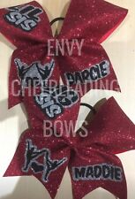 2  BIG SIS LITTLE SISTER  CHEERLEADING GLITTER  CHEER HAIR BOWS  27 AVAILABLE