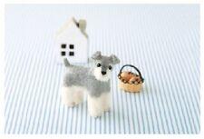 Miniature Schnauzer - Needle Felted Dog Making Kit Wool Animal Patterns Puppy