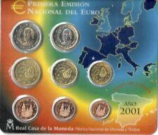 Pièces euro d'Espagne Année 2001