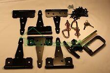 "Shed Door Hardware Kit 6"" Colonial Hinges, T-Handles, Barrel Bolts, Barn Door"
