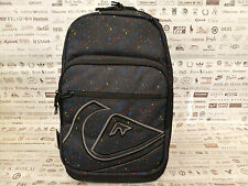 QUIKSILVER Large BACKPACK KTA Black RUCKSACK Organizer Spacious Bag BNWT RP£35