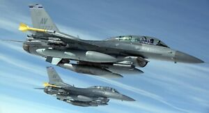 General Dynamics F-16 Fighting Falcon Air Force Military Airplane  HD POSTER