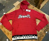 Le Tigre Hoody Red Sweater 80's Style Solid Men's knit vintage New w Tags