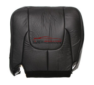 03 Dodge Ram 3500 Laramie DRIVER Side Bottom Leather Seat Cover Dark Gray