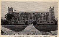 Postcard Legal Research Bldg University Michigan Ann Arbor MI