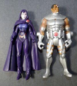 """2008 DC Infinite Crisis 3.75"""" Action Figure Lot 2 // RAVEN & CYBORG Titans Doom"""