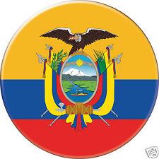 5 x sticker 5cm auto moto velo valise pc portable drapeau Rond Équateur-Ecuador